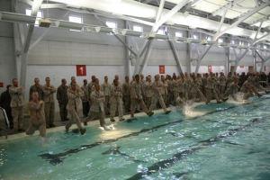 Marines swim-qual