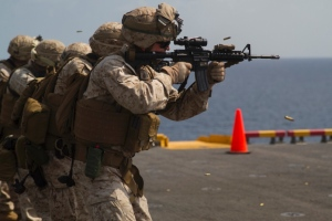 Marines on Navy ship