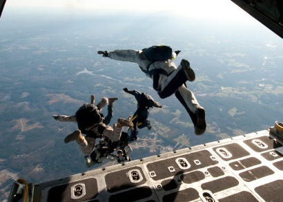 Navy SEAL jumps